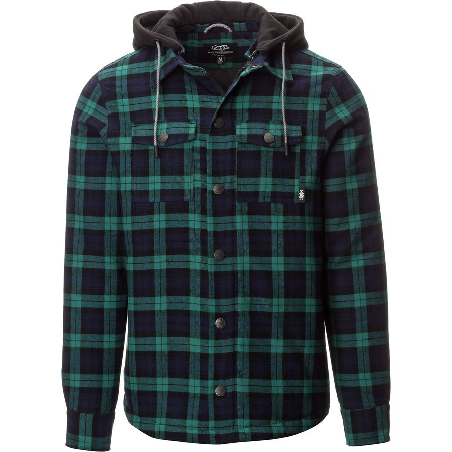 Saga insulated hooded flannel shirt men 39 s for Men s hooded flannel shirt jacket