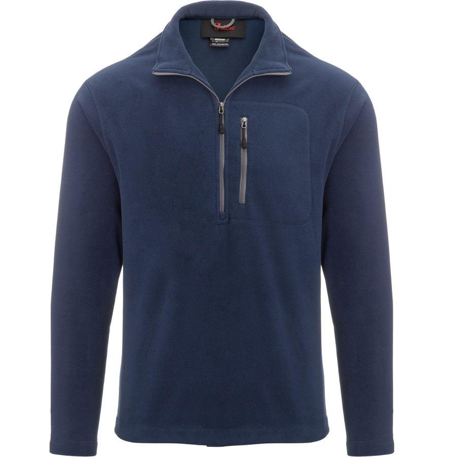 Stoic - 1 4-Zip Midweight Fleece Jacket - Men s - Navy a55796450e37