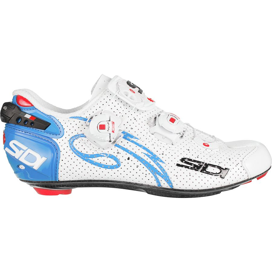 Sidi - Wire Carbon Air Push Cycling Shoe - Women s - White Light Blue eb6681980