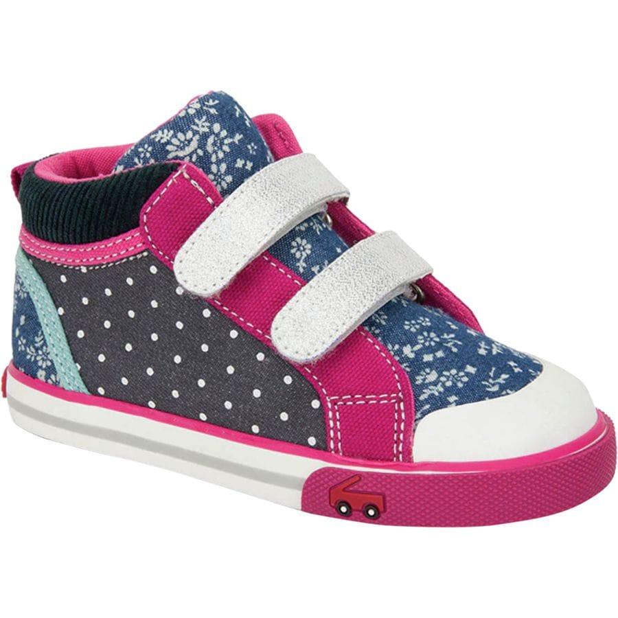 See Kai Run - Kya Shoe - Toddler Girls  - Navy Corduroy Multi 66b71265a638