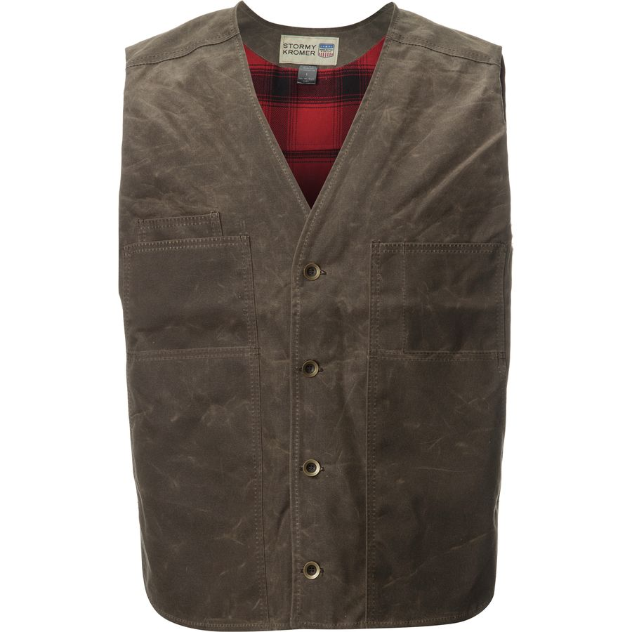 Stormy Kromer Mercantile Lined Waxed Button Vest - Mens