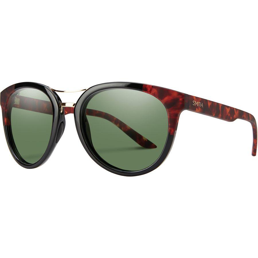 aaf245182d9 Smith - Bridgetown ChromaPop Polarized Sunglasses - Women s - Black Havana  Block Polarized Gray Green