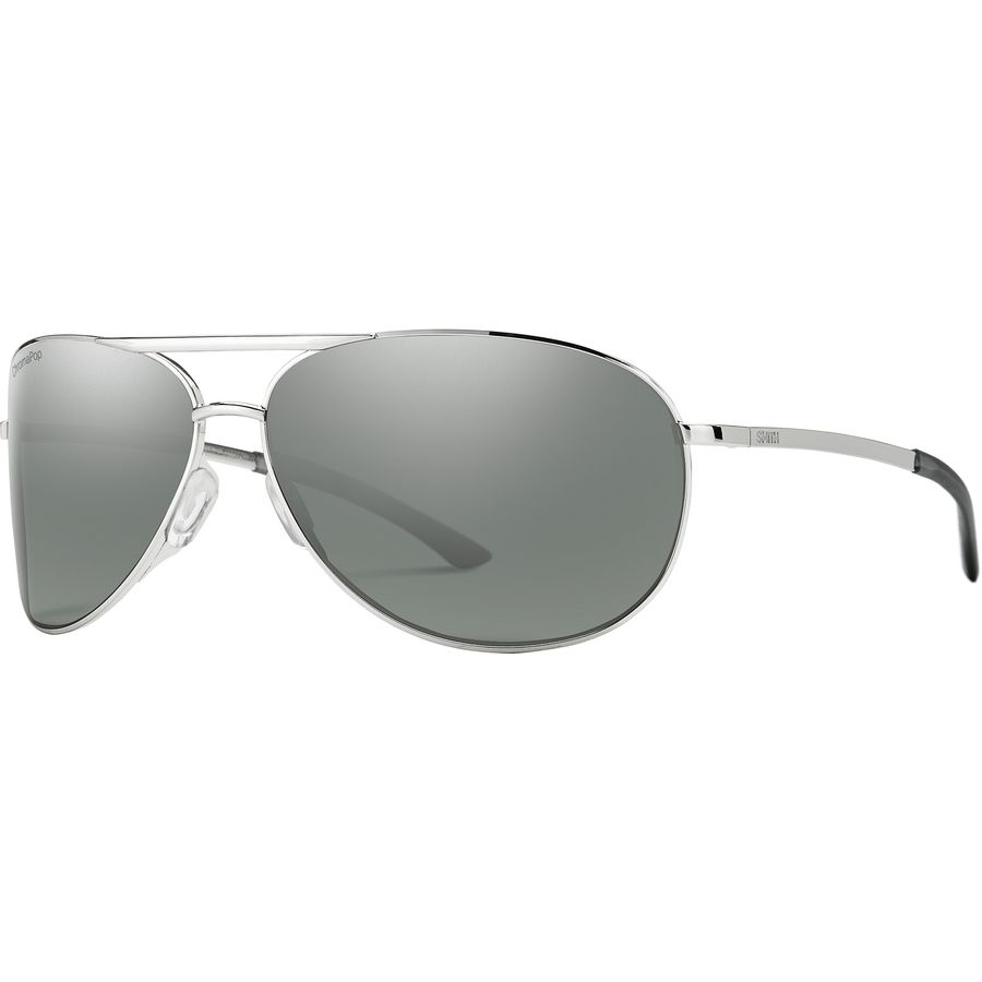 Smith - Serpico 2 ChromaPop Polarized Sunglasses - Silver Polarized Platinum fd5378460