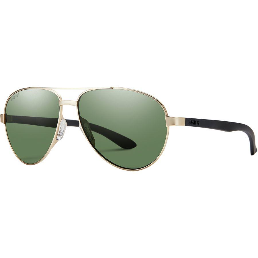 ce4bf69b75 Smith - Salute Polarized Sunglasses - Matte Gold Polarized Gray Green