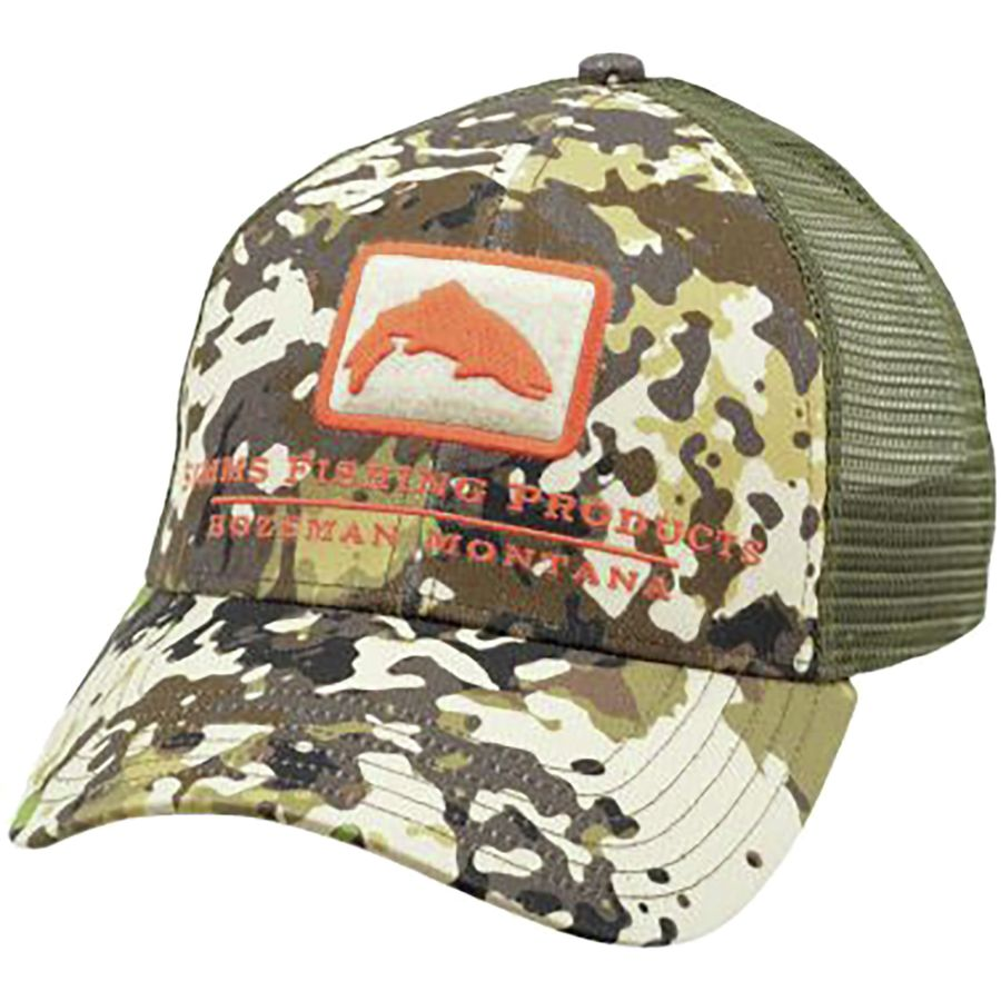 3bfdd31f3f4 Simms - Trout Icon Trucker Hat - River Camo