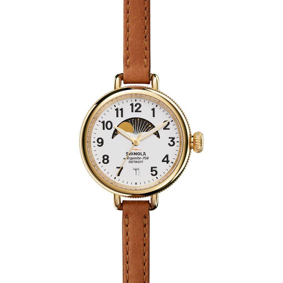 Shinola Birdy 34mm Moon Phase Watch - Womens