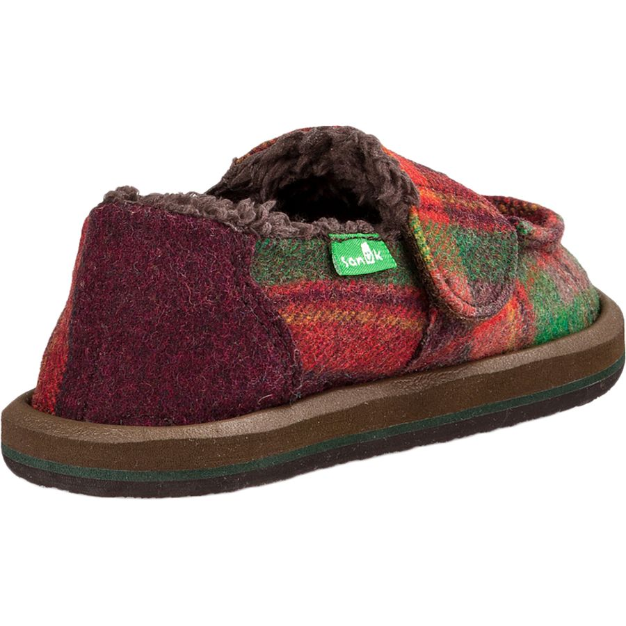 eb68eecde4a Sanuk Vagabond Plaid Chill Slipper - Boys