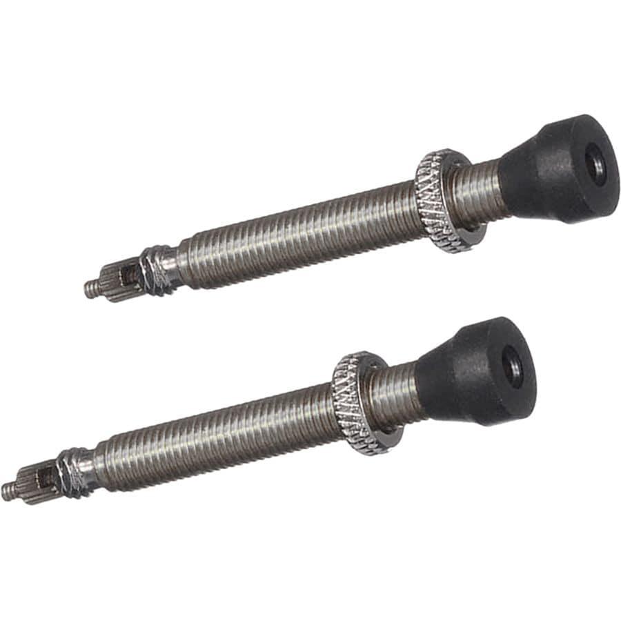 Pair Black Stans-No Tubes 44mm Tubeless Valves