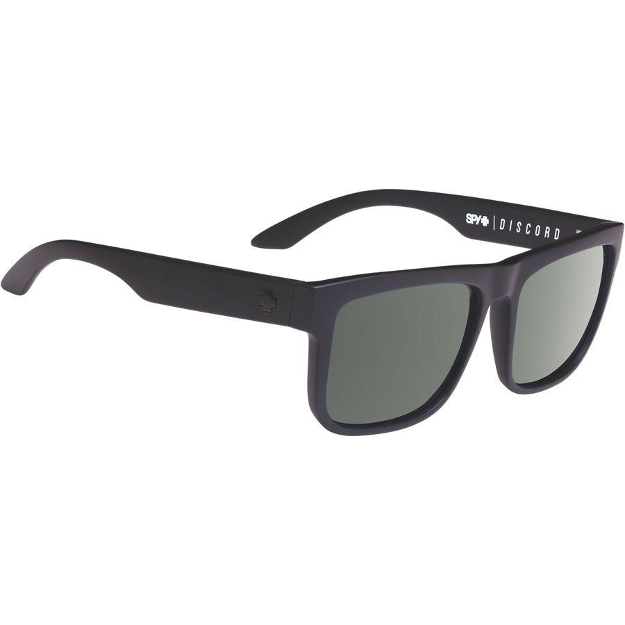 260bb3ab8fa Spy - Discord Polarized Sunglasses - Soft Matte Black - Happy Gray Green