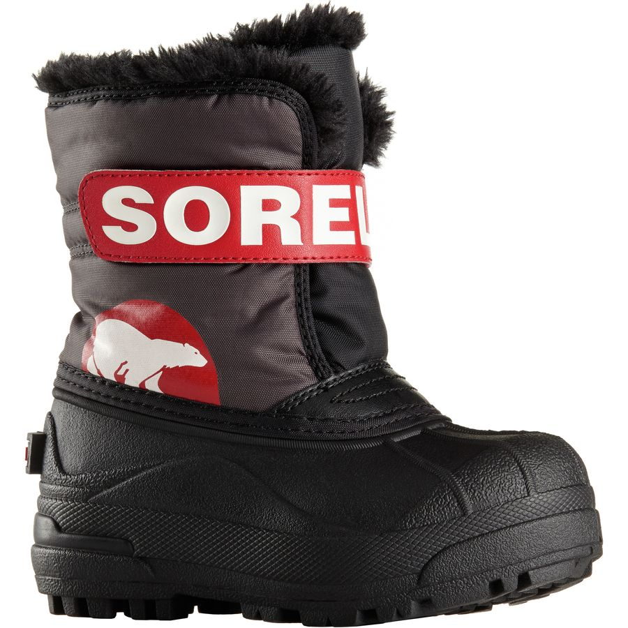 Sorel Snow Commander Boot Toddler Boys Dark GreyBright Red