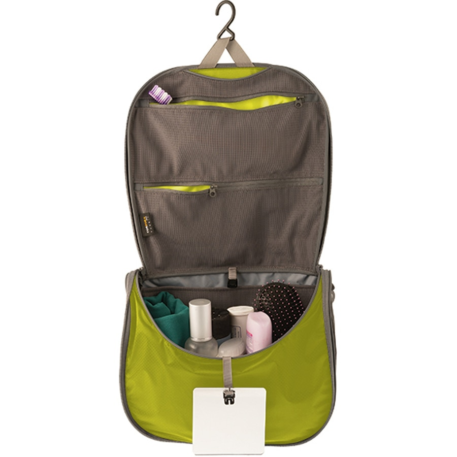 6b981c38e4 Sea To Summit - Travelling Light Hanging Toiletry Bag with Mirror -  Lime Grey