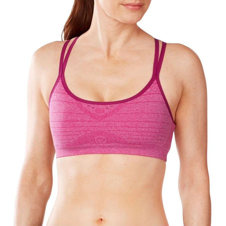 SmartWool Phd Seamless Double Strappy Sports Bra - Womens