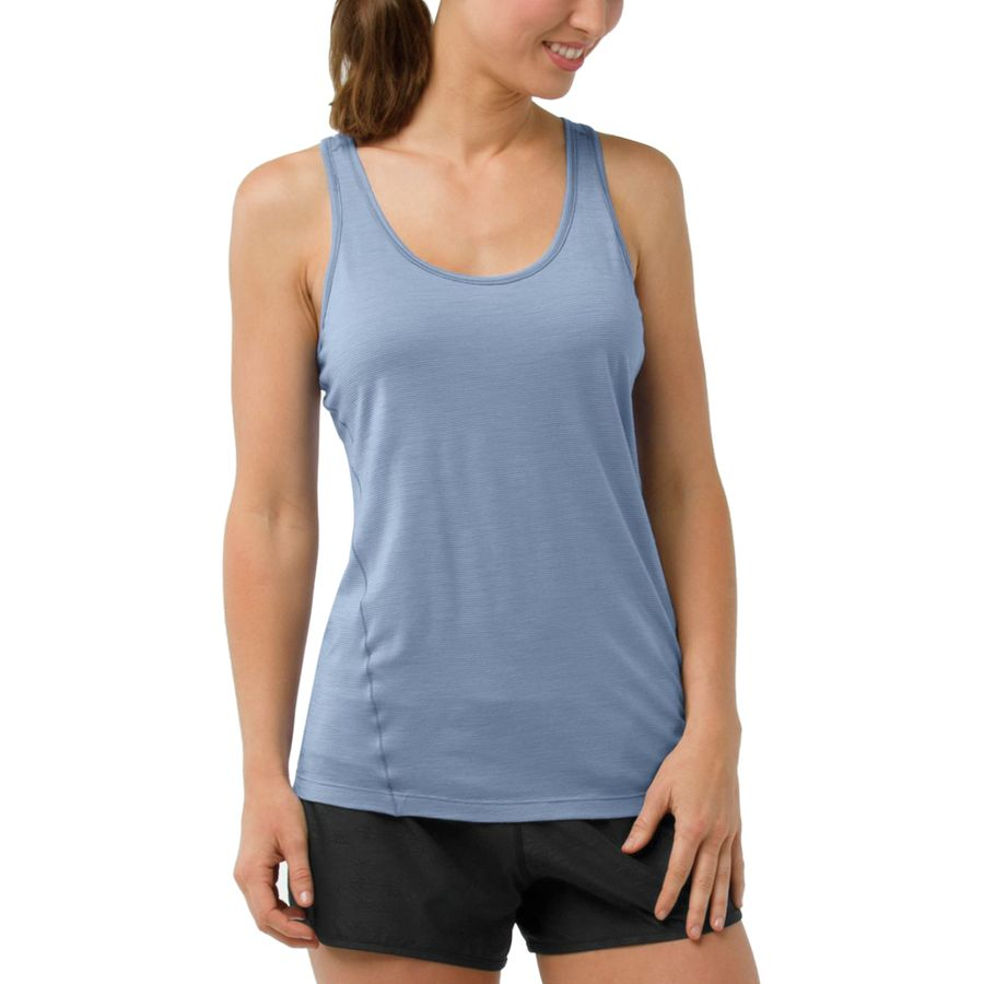 a77ed5590099d Smartwool - Merino 150 Baselayer Pattern Tank Top - Women s - Blue Steel