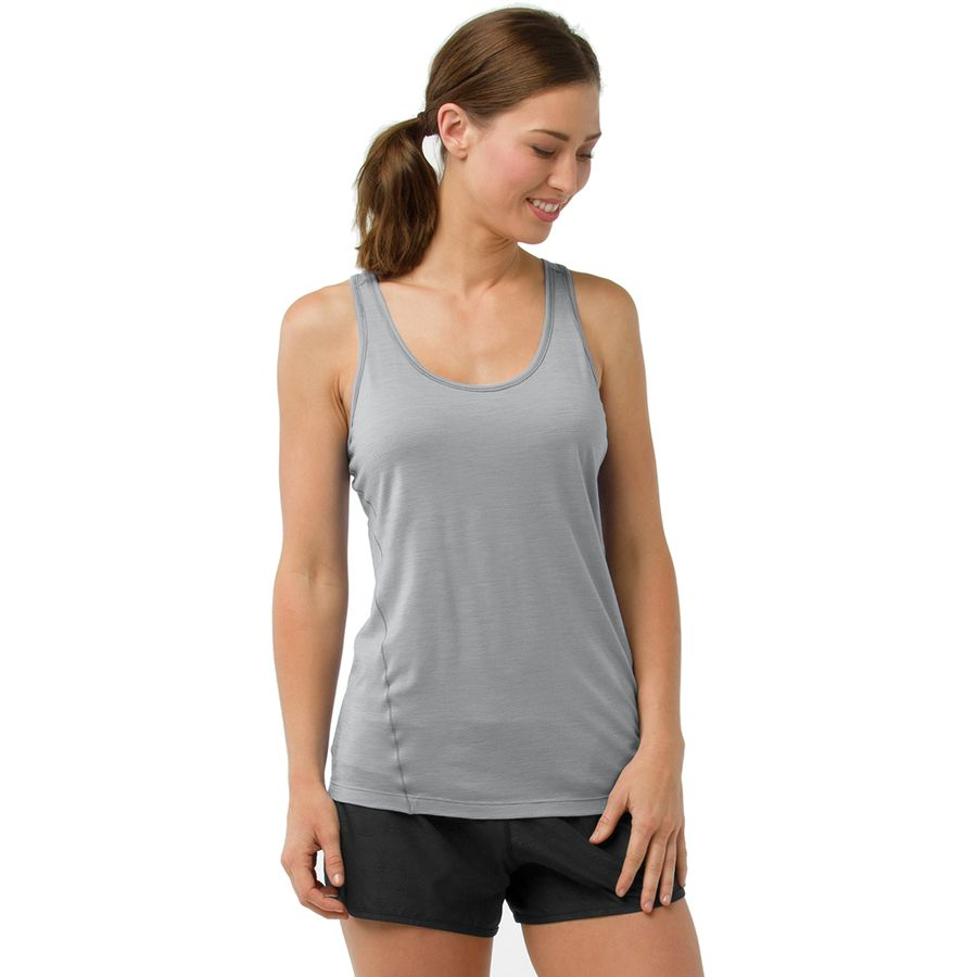 9bfcb71f6b3d4 Smartwool - Merino 150 Baselayer Pattern Tank Top - Women s - Dark Pebble  Gray