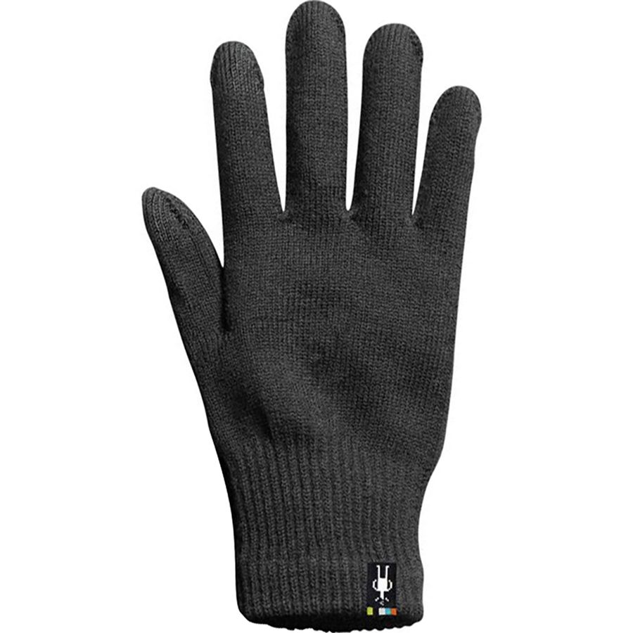 Black, M Touch Screen Compatible Design for Men and Women Smartwool Merino Wool Liner Glove
