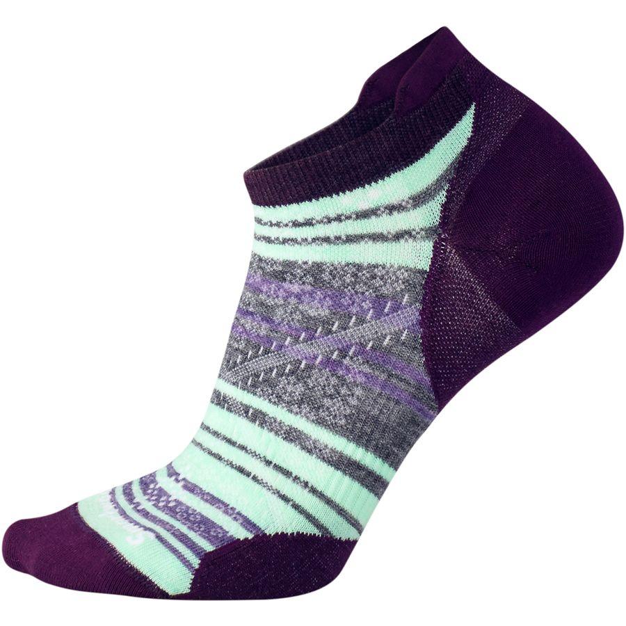Smartwool PhD Run Ultra Light Striped Micro Sock - Womens