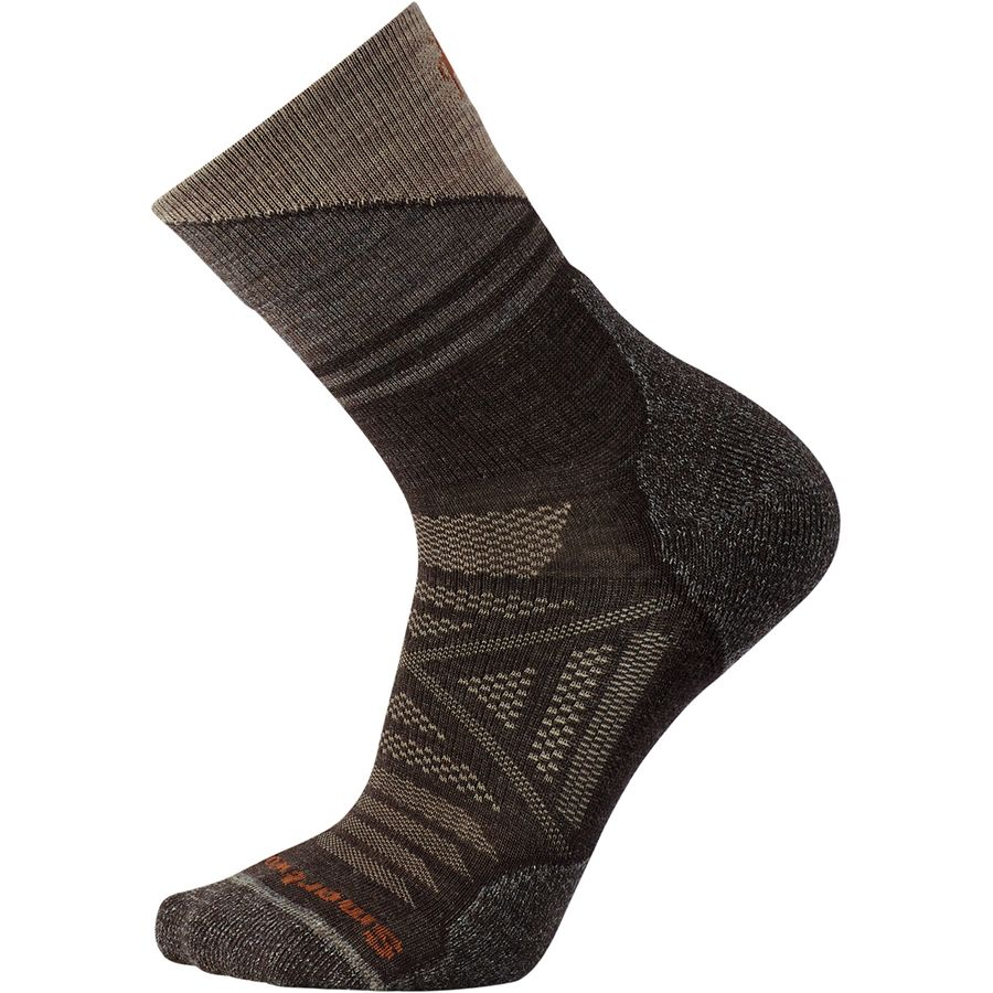 fe3ef372a Smartwool PhD Outdoor Light Pattern Mid Crew - Men's | Steep & Cheap