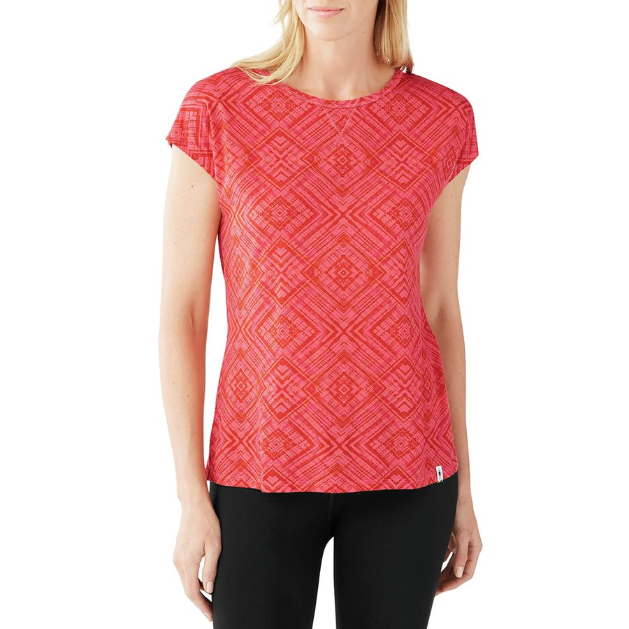 50a344a5323 Smartwool - Merino 150 Pattern T-Shirt - Women s - Bright Coral
