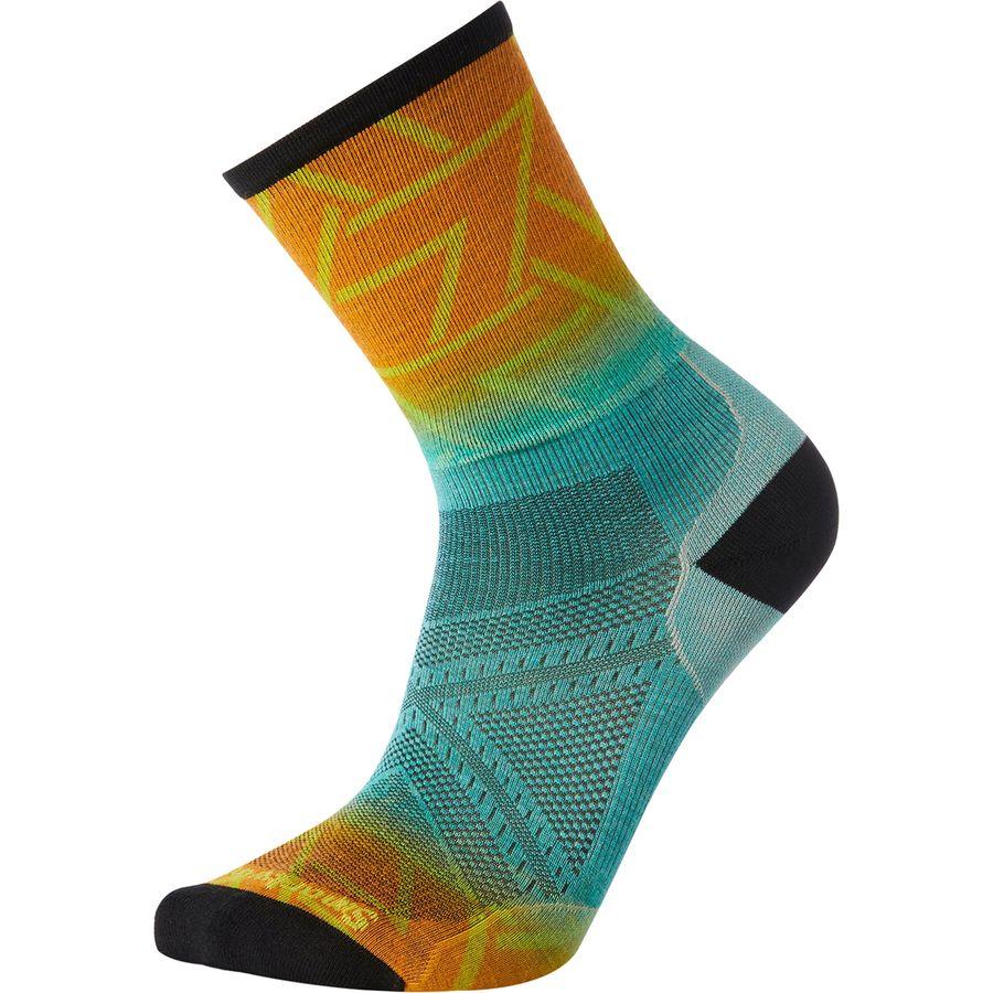 Smartwool Phd Run Ultra Light Print Crew Sock Men S