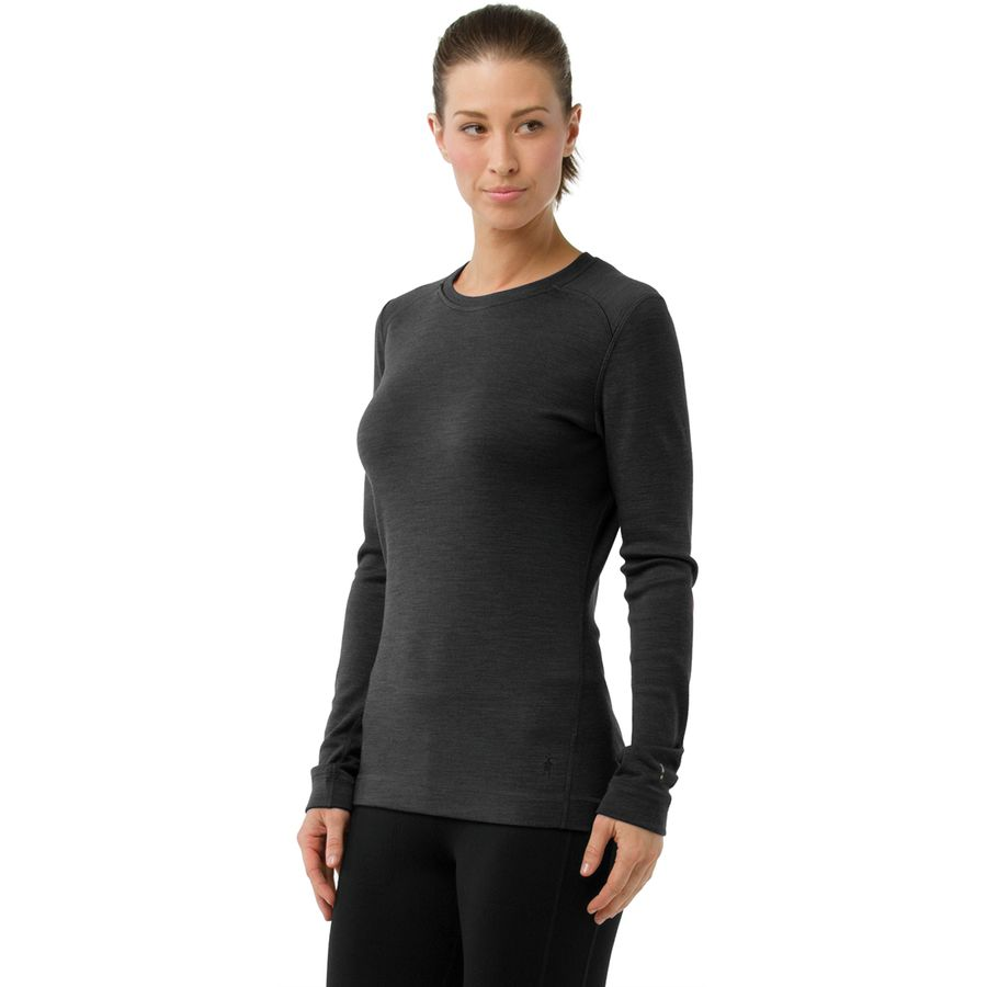 d4d975a84c Smartwool - Merino 250 Baselayer Crew - Women's - Charcoal Heather
