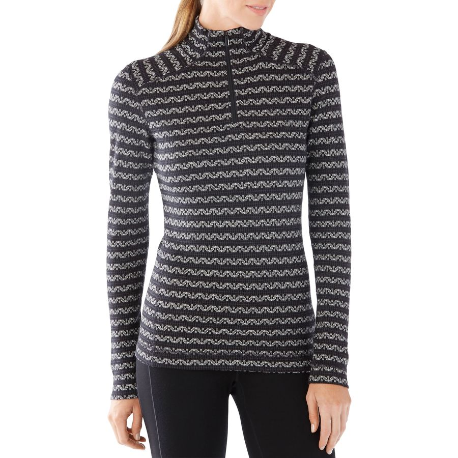 SmartWool Midweight Pattern Zip Top - Womens