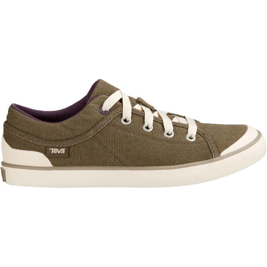 Teva Women S W Freewheel Washed Canvas Shoe Brown Size Shoes