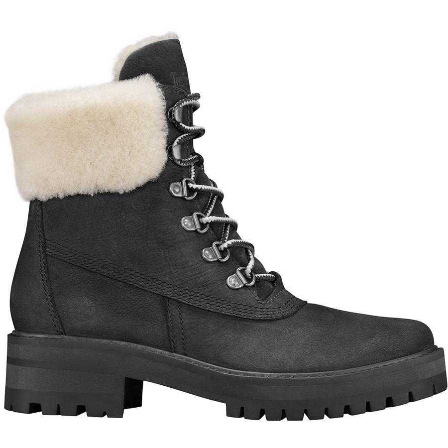 6c4ed7c109c Timberland - Courmayeur Valley Shearling Lining Boot - Women s - Black  Nubuck White