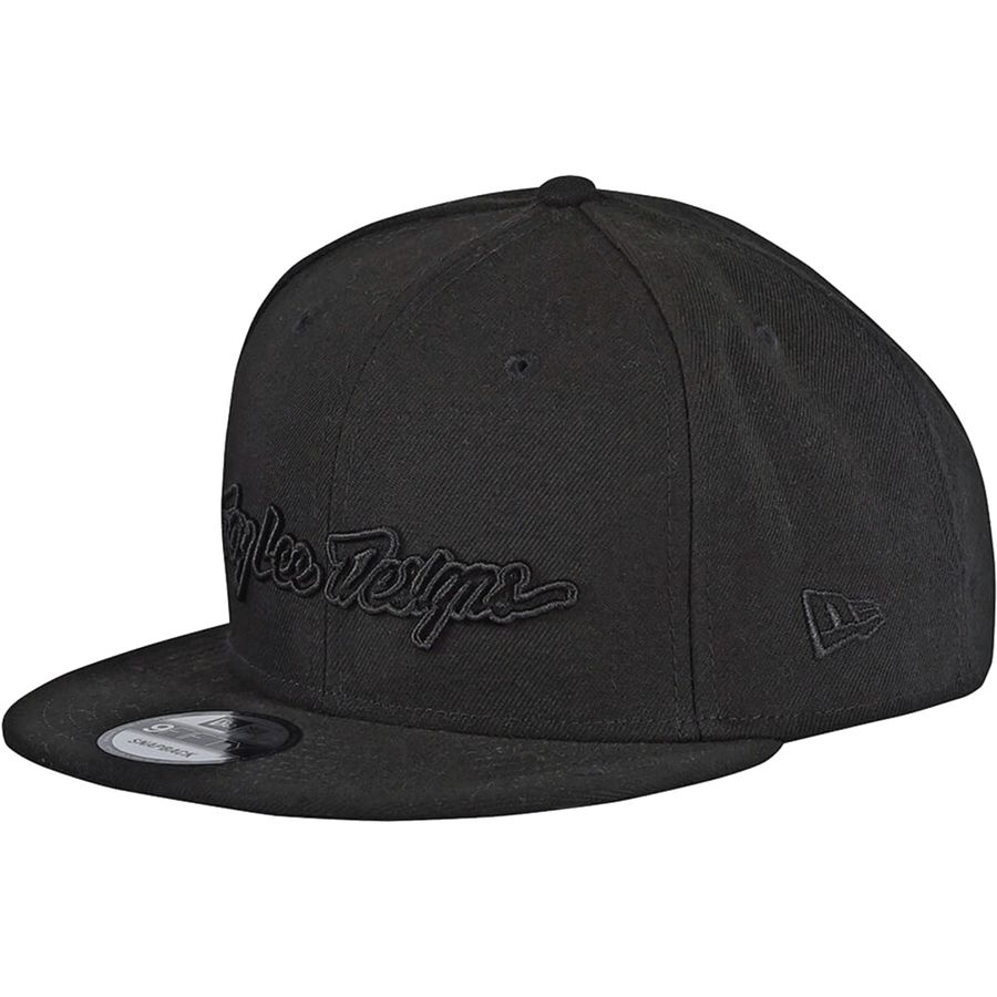 Troy Lee Designs - Classic Signature Snapback Cap - Classic Signature  Black Black 06b859cbc20