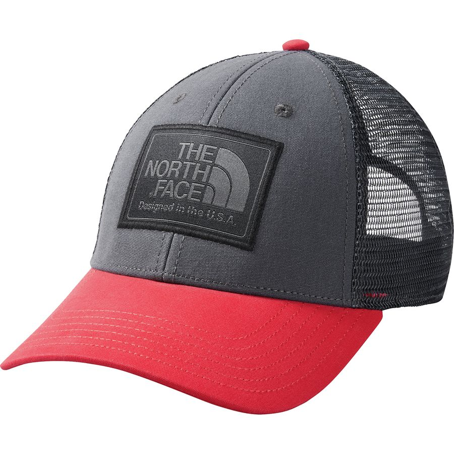 c292076525909 The North Face - Mudder Trucker Hat - Men s - Asphalt Grey Tnf Red