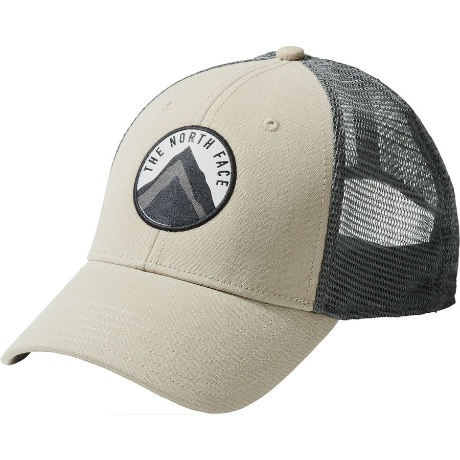 7f24a4f2 The North Face - Patches Trucker Hat - Dune Beige/Tnf Black Multi