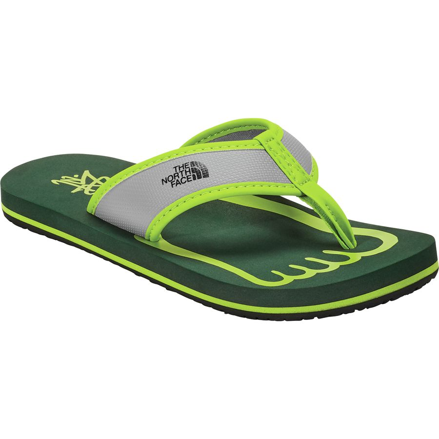 b8b08706dd685 The North Face - Base Camp Flip Flop - Boys  - Lime Green Botanical