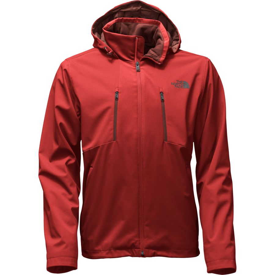 apex men Get active in this ultra-durable, hooded soft shell jacket that's crafted of windproof  windwall® fabric that's virtually waterproof and features cuffs to keep out cool.