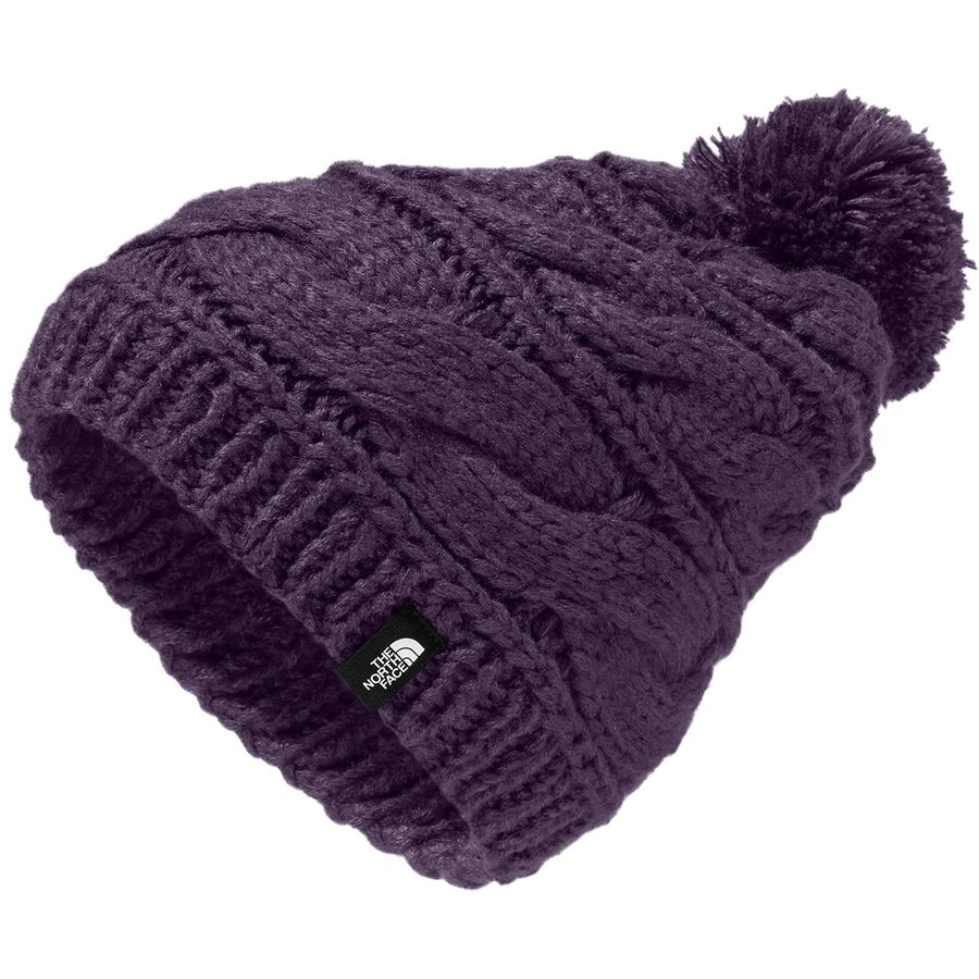 The North Face - Triple Cable Pom Beanie - Women s - Dark Eggplant Purple 838a21c9f0e