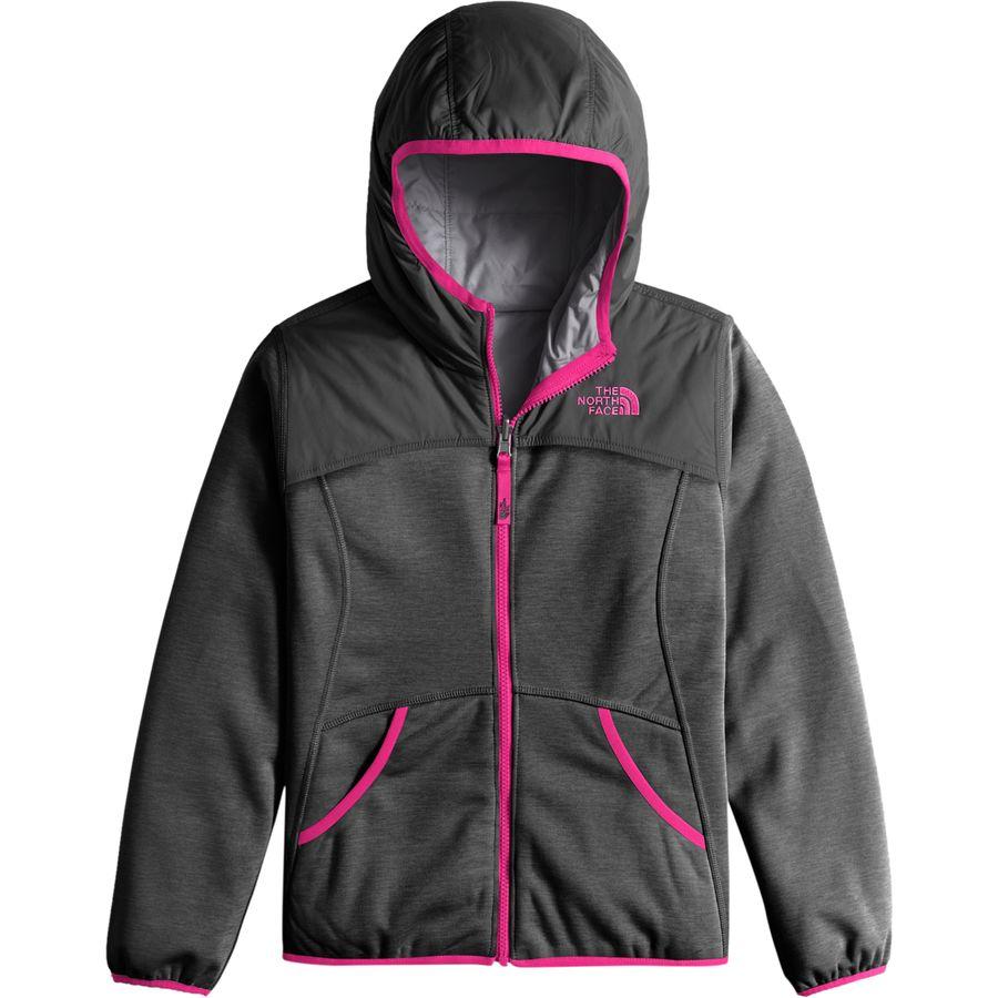 The North Face Haldee Reversible Fleece Hooded Jacket - Girls ...