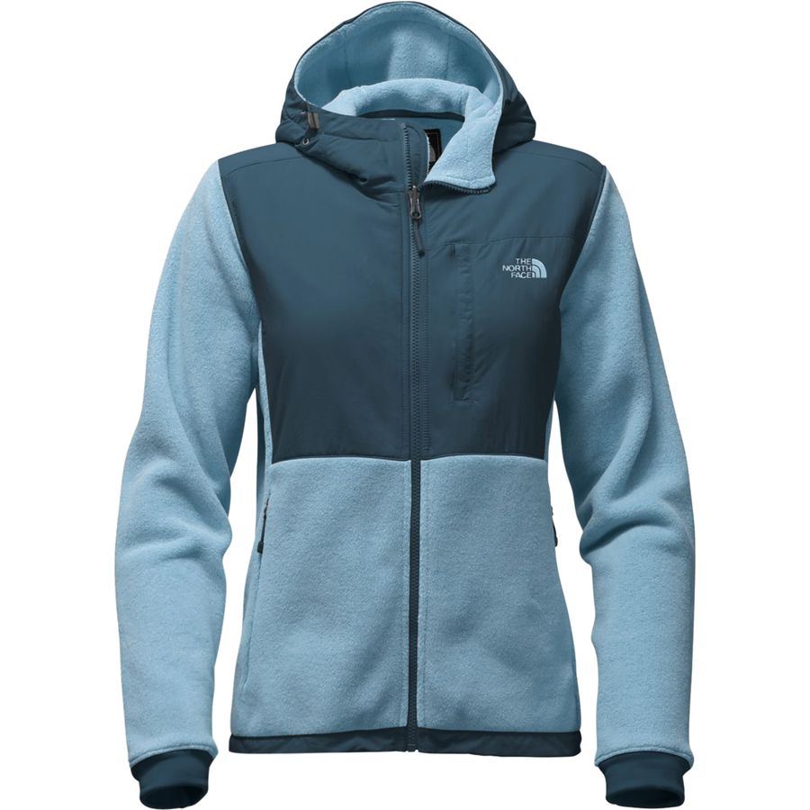 Womens north face denali hooded fleece jacket