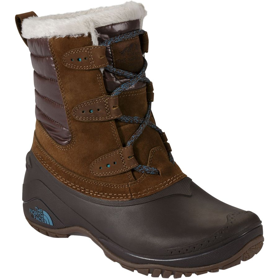 The North Face - Shellista II Shorty Boot - Women's - Dark Earth Brown/Storm