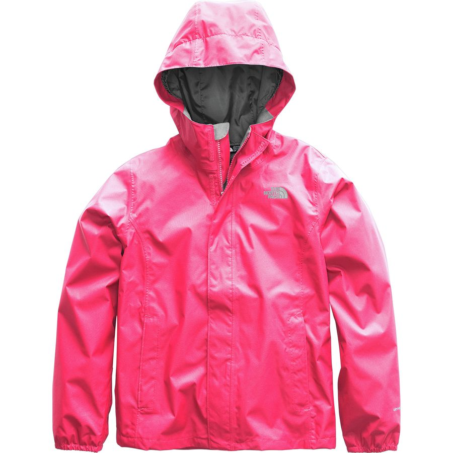 The North Face - Resolve Reflective Hooded Jacket - Girls  - Atomic Pink 8f7b00b42