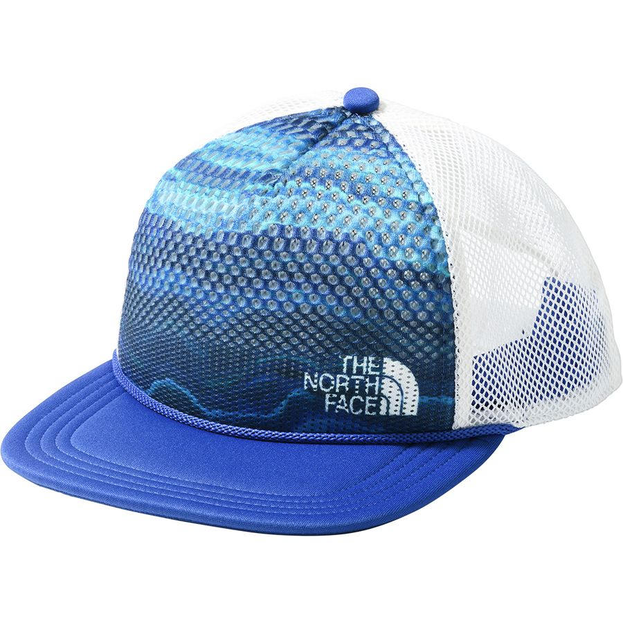 The North Face - Trail Trucker Hat - Aztec Blue Geode Print Dazzling Blue 18d4a6202f1