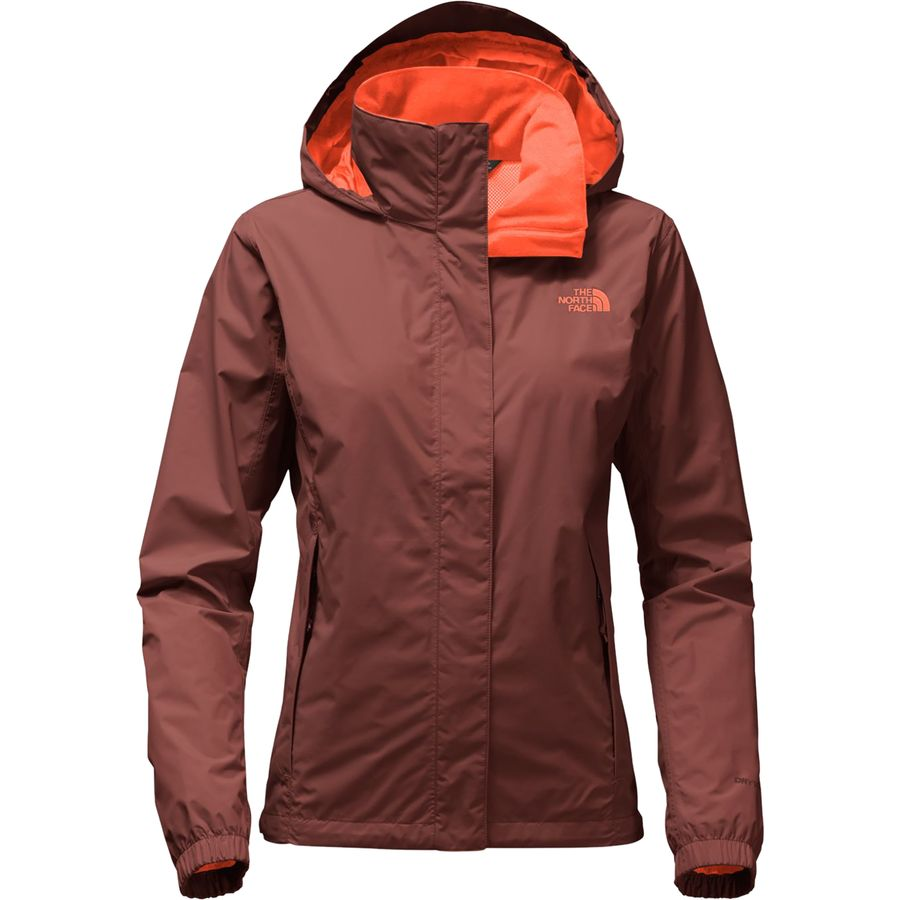 Red north face jacket women