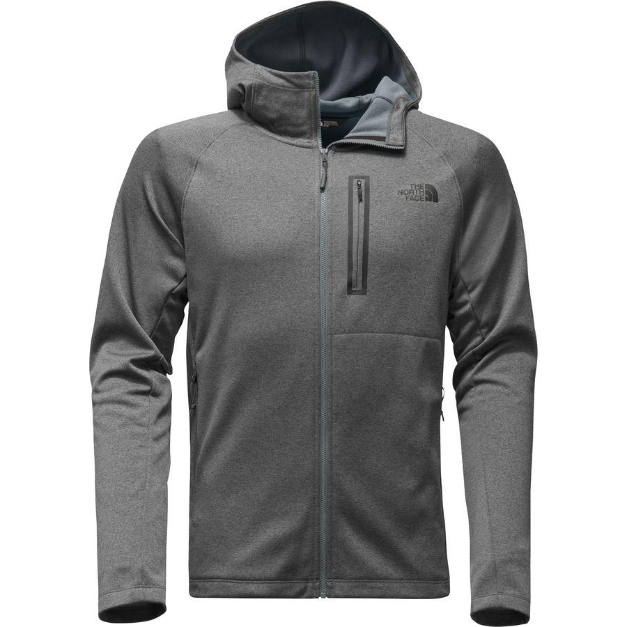 The North Face - Canyonlands Hooded Fleece Jacket - Men's - Tnf Medium Grey  Heather