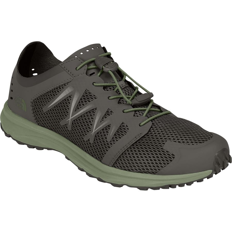 The North Face - Litewave Flow Lace Shoe - Men's - Black Ink Green/Four