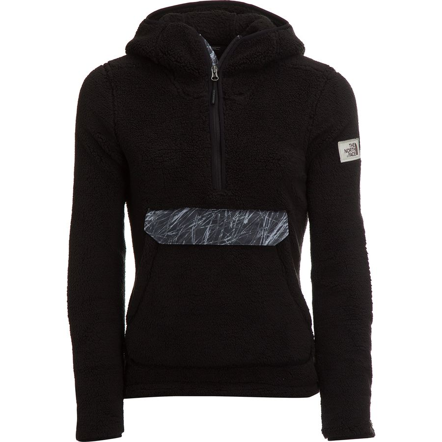 Face Tnf Novelty Jacket Pullover The Women's North Campshire Black Hooded Fleece 5nWWgxv8