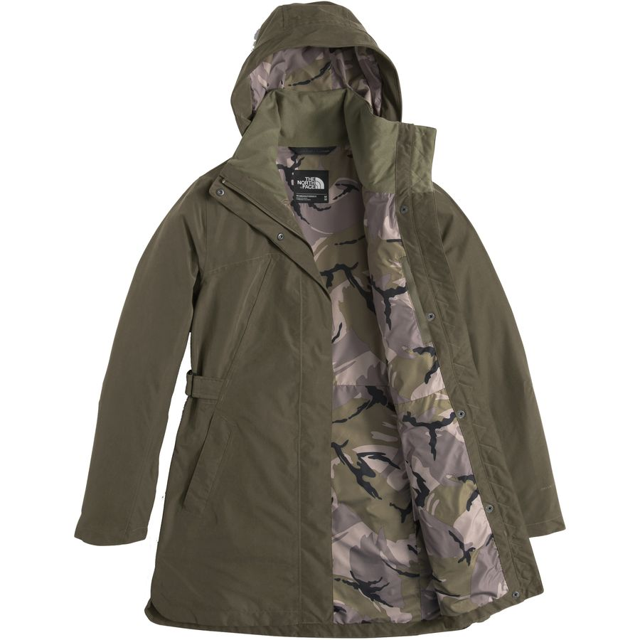 North face trench coat women