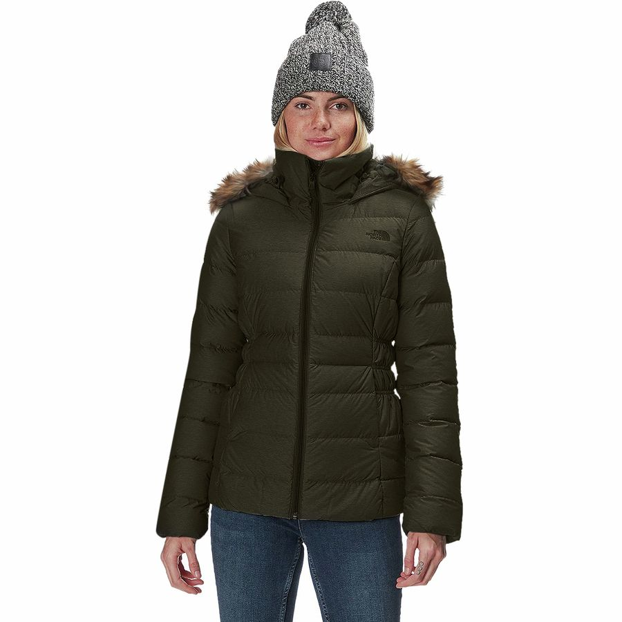 The North Face - Gotham II Hooded Down Jacket - Women s - New Taupe Green  43baff6c4