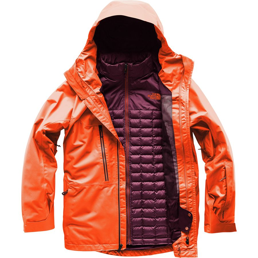 0bbb561dff26 The North Face - Thermoball Snow Triclimate Hooded Jacket - Men s -  Fig Persian Orange