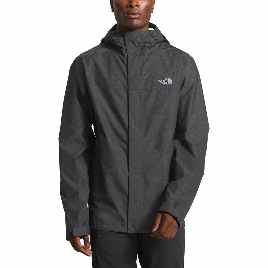 15884295250497 The North Face - Venture 2 Tall Hooded Jacket - Men s - Tnf Dark Grey  Heather
