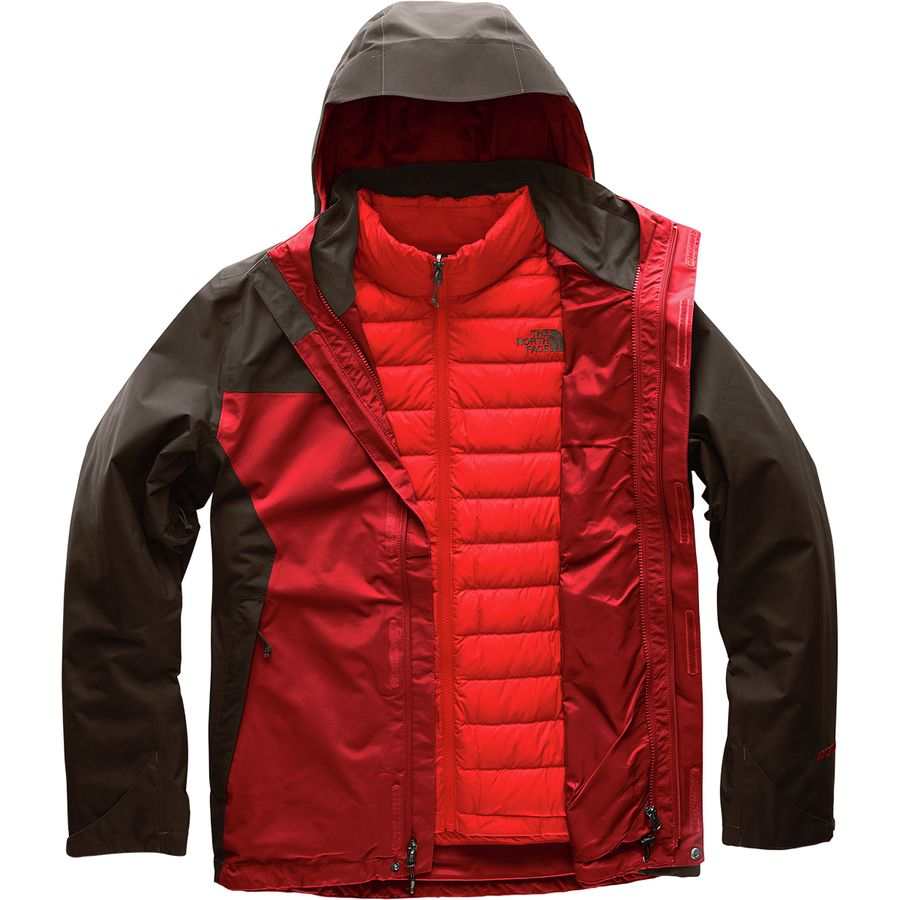 The North Face - Mountain Light Triclimate Hooded Jacket - Men s - Rage  Red Bittersweet 65c7d1c0a