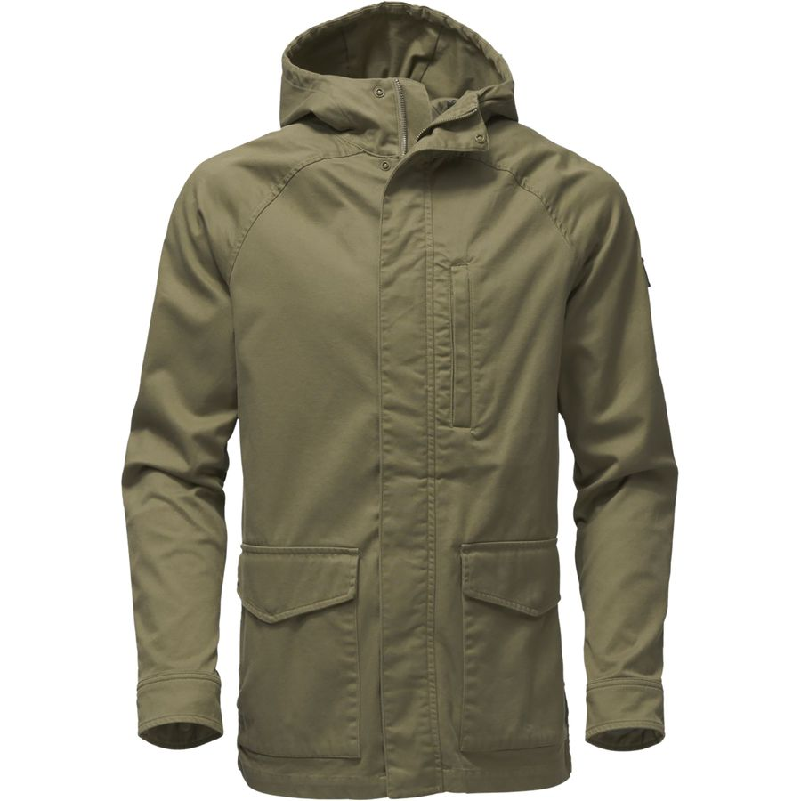 The North Face Utility Mens Hooded Jacket (Burnt Olive Green)