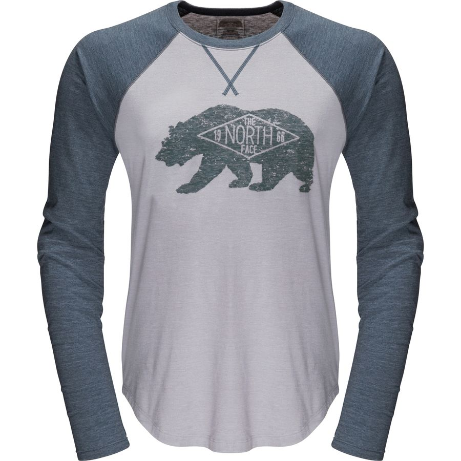 the north face bearitage baseball t shirt long sleeve men 39 s. Black Bedroom Furniture Sets. Home Design Ideas