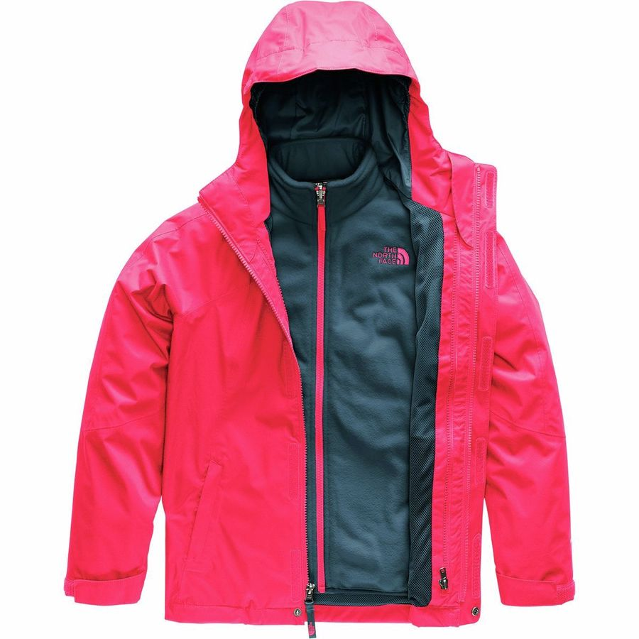 8c0218b533c2 The North Face - Mountain View Hooded Triclimate Jacket - Girls  - Atomic  Pink
